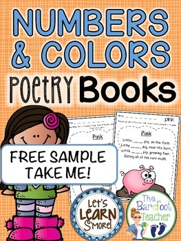 FREE DOWNLOAD - Numbers & Colors Poetry Book Pages