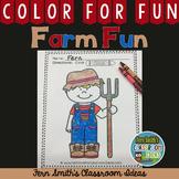 Farm Coloring Page Freebie
