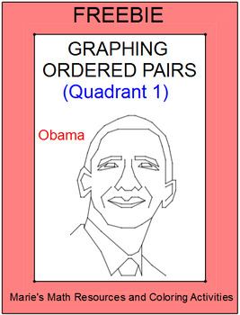 FREE DOWNLOADS - Presidents' Day (Graphing in Quadrant 1)
