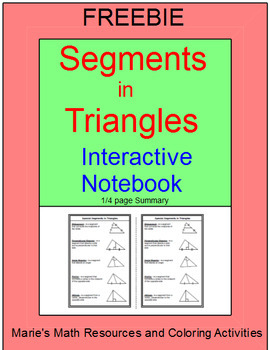 FREE DOWNLOADS - Special Segments in Triangles