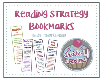 FREE Daily 5 / Cafe Comprehension Bookmarks
