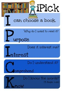 FREE Daily 5 Rules Posters: iPick, EEKK and 3 Ways to Read