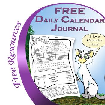 FREE Daily Calendar Journal