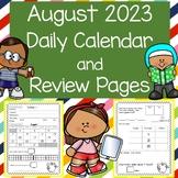 Daily Calendar & Math Review August 2020  TPT Digital Activities