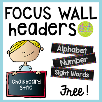 FREE Daily Focus Wall Headers - English version