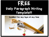 FREE Daily Paragraph Writing Template