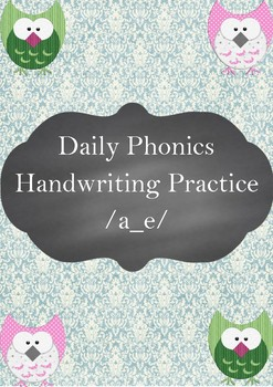FREE Daily Phonics Handwriting Practice /a_e/