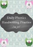 FREE Daily Phonics Handwriting Practice /a_e/