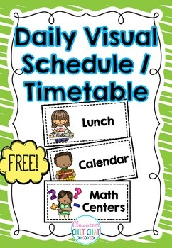 photograph regarding Printable Visual Schedule for Classroom named Absolutely free Day by day Visible Routine / Agenda
