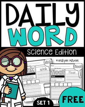 FREE Daily Word Practice Pages - Science Edition