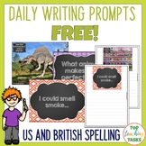 FREE Daily Writing Prompts - PowerPoint, Journal and Worksheets