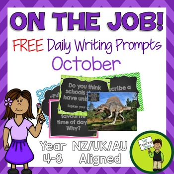 FREE Daily Writing Prompts - PowerPoint, Journals, Workshe