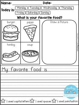FREE Daily Writing Prompts by Teaching Biilfizzcend | TpT