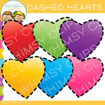Free Dashed Hearts Clip Art