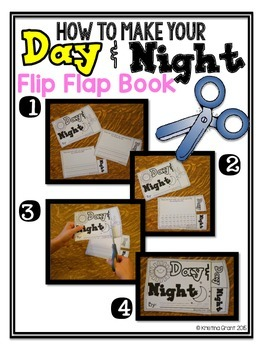 FREE Day & Night Flip Flap Book {Objects in the Sky}