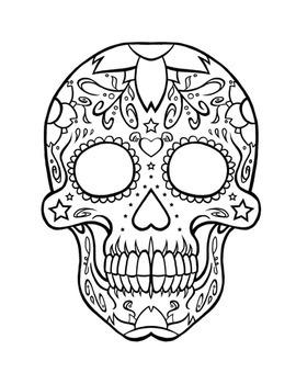 FREE: Day of the Dead (Día de los Muertos) Sugar Skull Doodle/Color