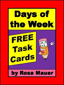 FREE Days of the Week Task Cards and Response Form