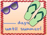 FREE # Days until Summer Poster