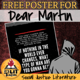 FREE Dear Martin by Nic Stone Quote Poster
