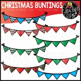 ~FREE~ December Buntings Clip Art Bundle {Educlips Clipart}