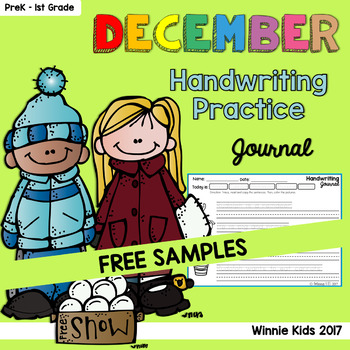 FREE December Handwriting Practice Journal