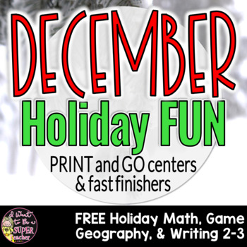 Christmas Holiday Fun Printables-FREE Print & Go Activities for December 2nd-3rd