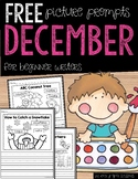 FREE December Writing Prompts for Beginning Writers