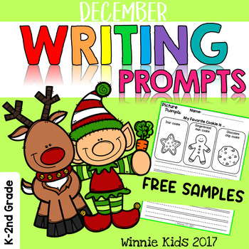 FREE December Writing and Picture Prompts