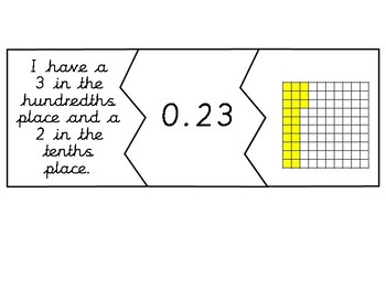 FREE Decimal Matching Puzzles