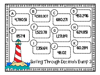 FREE-Decimal Place Value Bump