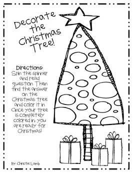 FREE-Decorate the Christmas Tree Game