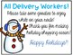 FREE Delivery Worker Kindness Box Label