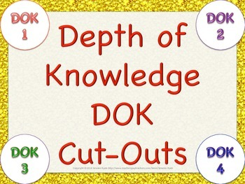 FREE Depth of Knowledge DOK Cutouts