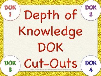 FREE Depth of Knowledge DOK Cutouts