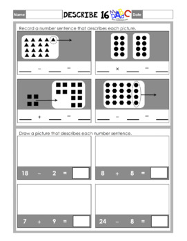 FREE Describe Amounts and Numbers Math Worksheets