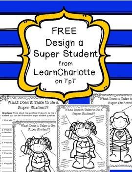 FREE Design a Super Student Positive Behavior Posters