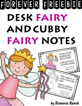 FREE Desk and Cubby Fairy Notes