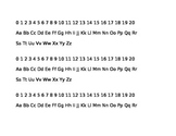 FREE Desk Helper- Numbers and Letters for Students' Quick Reference