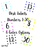 FREE Desk Labels, 1-30