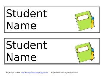 FREE Desk Name Plates