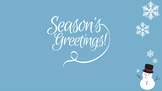 FREE Desktop Wallpaper - Season's Greetings