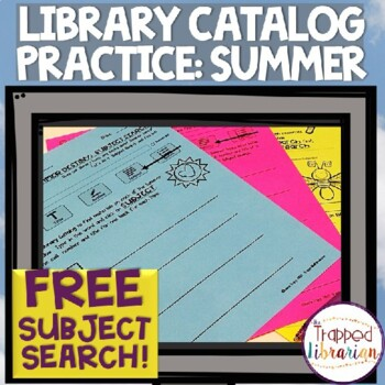 FREE Destiny Library Catalog Practice: Summer Subject Search