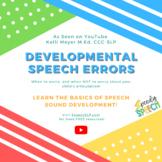 FREE Developmental Speech Errors Chart