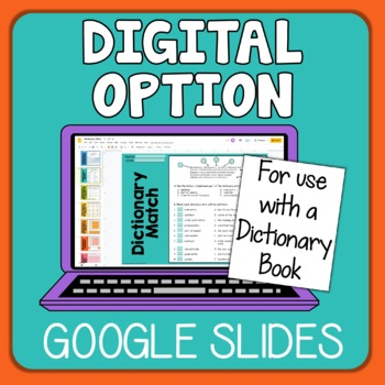 Dictionary Printables with Answer Keys FREE