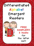 FREE Differentiated Alphabet Emergent Readers for Letter Aa- Kindergarten