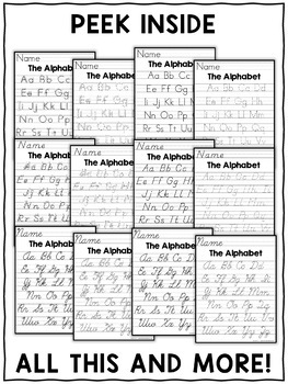 english handwriting practice sheets