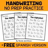 Alphabet Handwriting Practice Sheets
