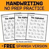 Alphabet Handwriting Practice Sheets