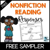 FREE Differentiated Nonfiction Reading Responses