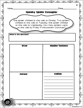 FREE Differentiated Spooky Spider Exemplar with Picture Manipulatives